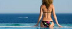 Urlaub-Pool-Meer